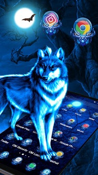 3D Ice Wolf Theme apk screenshot 3