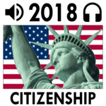 US Citizenship Test 2018 Audio - Free Exam Prep icon