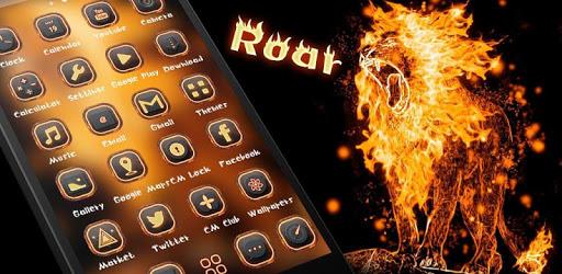 Roar Fire Lion Slayer Theme pc screenshot