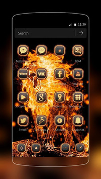 Roar Fire Lion Slayer Theme APK screenshot 1